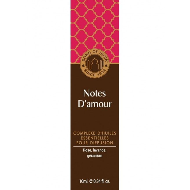 Notes d'Amour - Synergie d'huiles Essentielles - Song of India